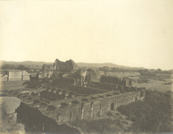 North-east view of ruined palace and fort, Alagarkoil, Madura District